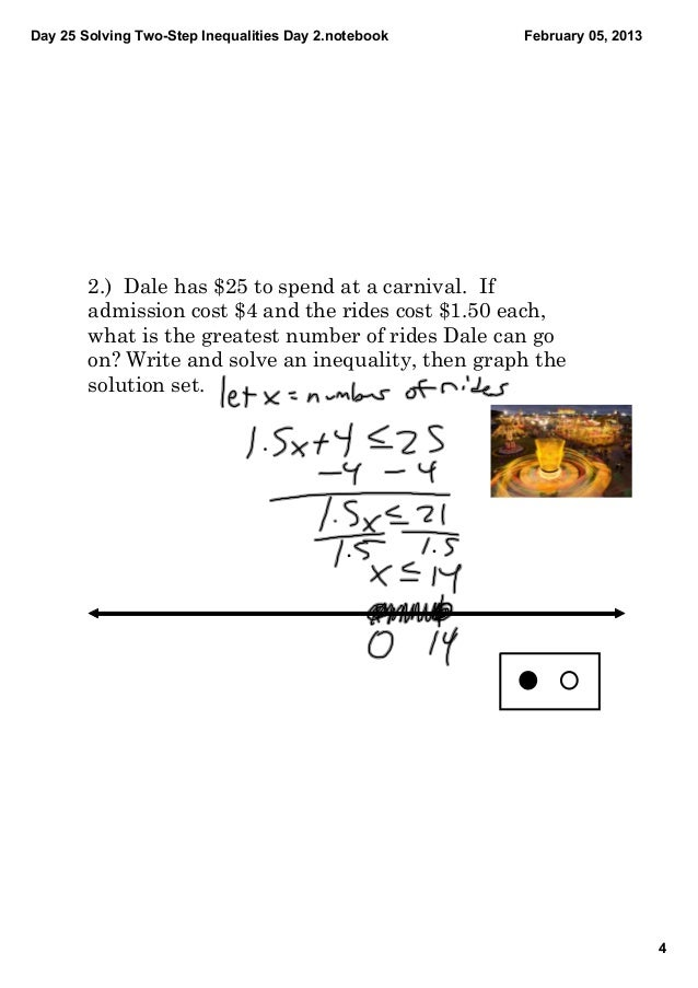 Writing and solving 2 step inequalities video