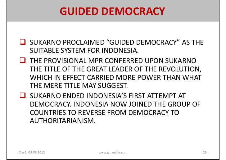 on the road to democracy transition and consolidation rh slideshare net Period Liberal Democracy in Indonesia guided democracy sa indonesia