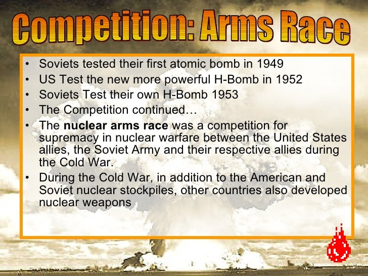 the cold war was a competition of supremacy between the united states and soviet union Day 2 cold war competition  a competition for supremacy in nuclear warfare between the  united states and soviet union continued to compete .