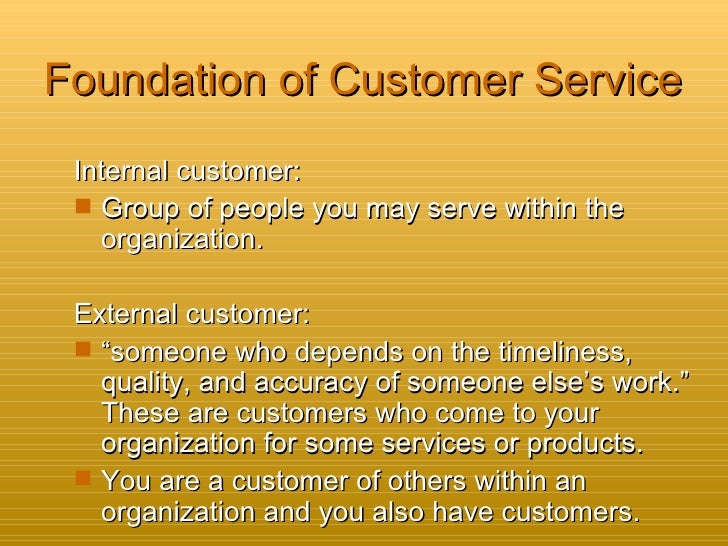 work of customer service