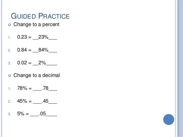 percent change worksheets