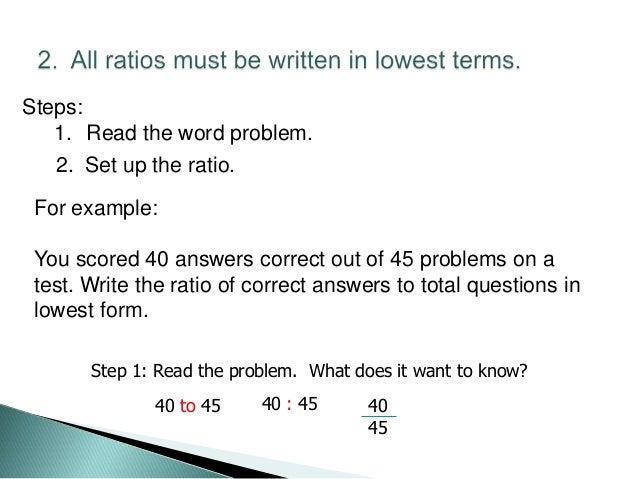 Percent, ratios, proportions, fraction