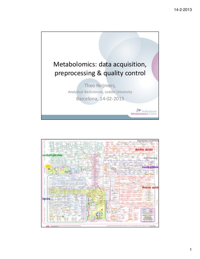 14-2-2013         Metabolomics: data acquisition,         preprocessing & quality control                          Theo Re...
