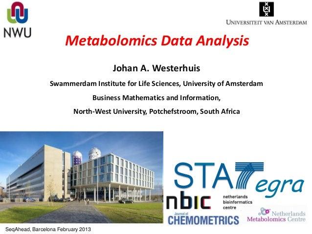 Metabolomics Data Analysis                                         Johan A. Westerhuis                 Swammerdam Institut...