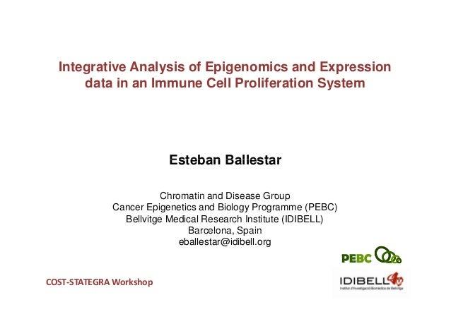 Integrative Analysis of Epigenomics and Expression      data in an Immune Cell Proliferation System                       ...