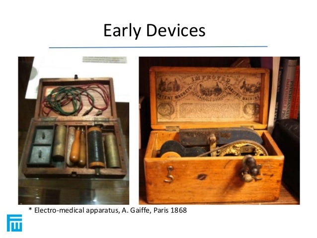 Early Devices  * Electro-medical apparatus, A. Gaiffe, Paris 1868