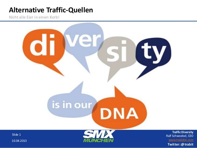 Alternative Traffic-QuellenNicht alle Eier in einen Korb!                                      Traffic Diversity Slide 1  ...