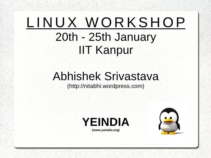 Linux Workshop , Day 3
