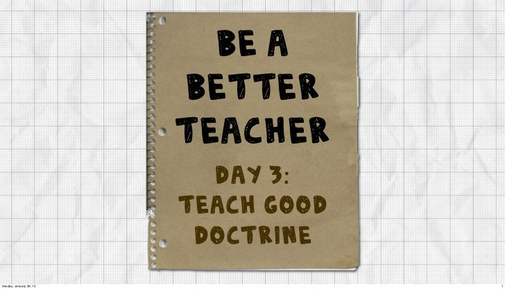 be a                         better                         teacher                           Day 3:                      ...