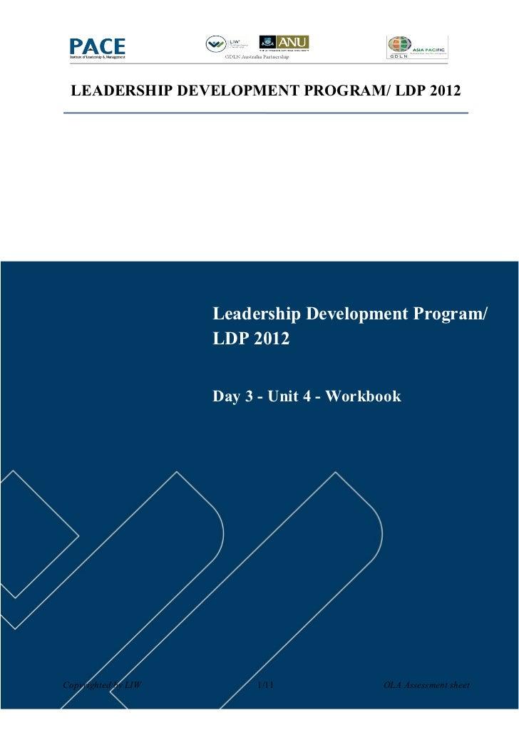 LEADERSHIP DEVELOPMENT PROGRAM/ LDP 2012                     Leadership Development Program/                     LDP 2012 ...