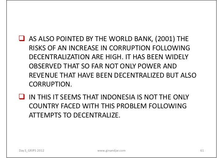 features of decentralisation
