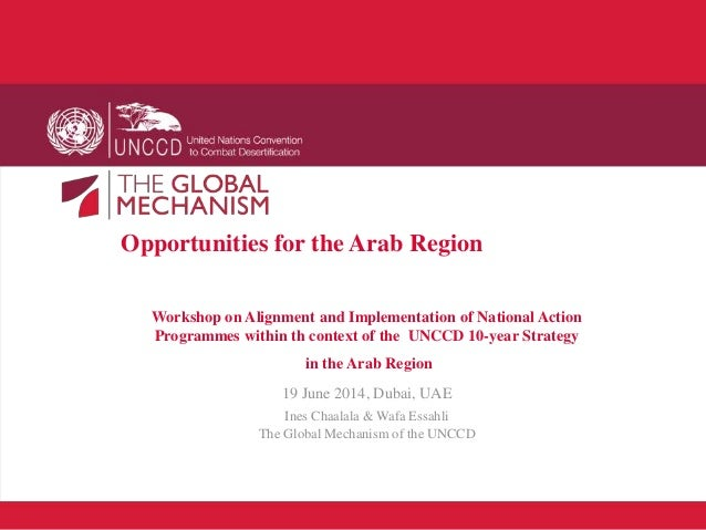 Opportunities for the Arab Region Workshop on Alignment and Implementation of National Action Programmes within th context...