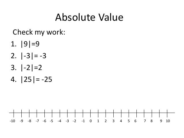 Integers roots powers order of operations – Integers and Absolute Value Worksheet
