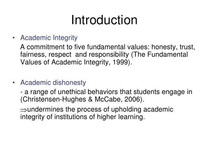Education with Integrity