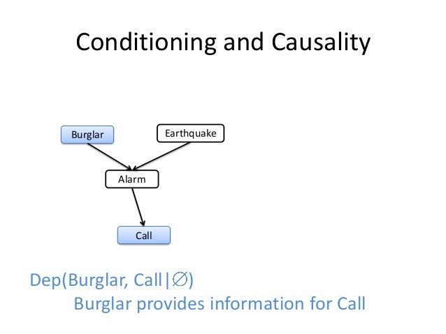 Conditioning and Causality     Burglar             Earthquake               Alarm                  CallDep(Burglar, Call| ...