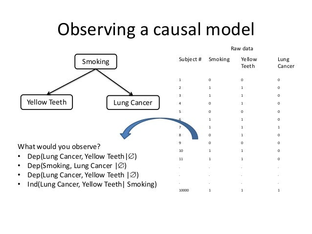 Observing a causal model                                                                  Raw data                        ...