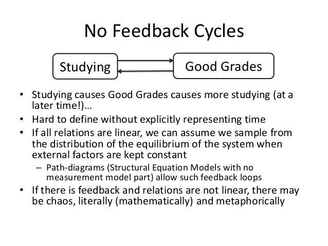 No Feedback Cycles        Studying                    Good Grades• Studying causes Good Grades causes more studying (at a ...
