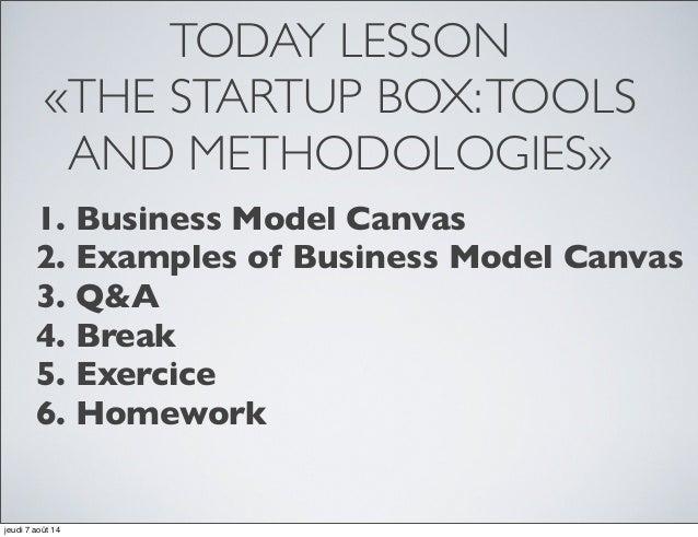 Business model canvas: Day 4   African summer school Slide 2