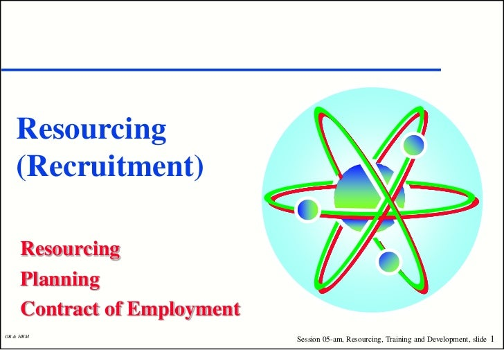 Resourcing   (Recruitment)     Resourcing     Planning     Contract of EmploymentOB & HRM                              Ses...