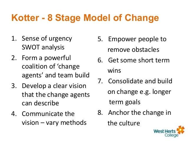 describe 2 3 change management models