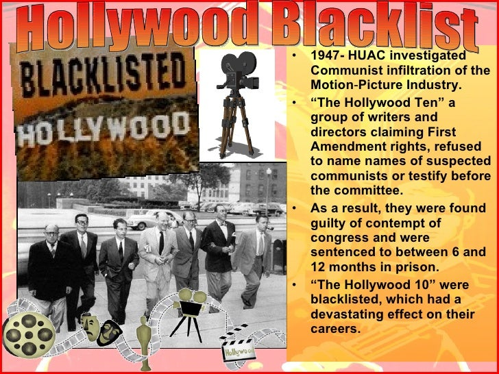 what was the relationship between huac and hollywood ten mccarthyism