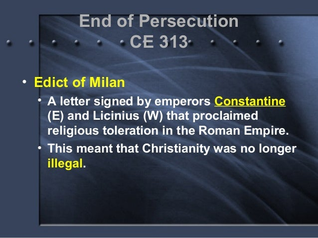 an analysis of the effects of emperor constantine on the spread of christianity Christianity in the roman empire  the ideas of christianity spread and the organisation of the roman empire helped this in several ways 1 it was relatively easy to move around the empire  christians did gain some toleration in the later empire but it was not until the emperor constantine (who was crowned in york) that christianity was.