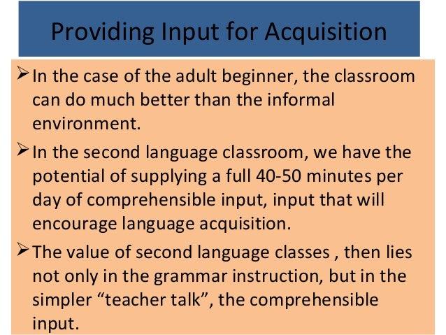 acquisition adult language second