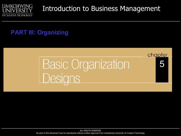 PART III: Organizing 5
