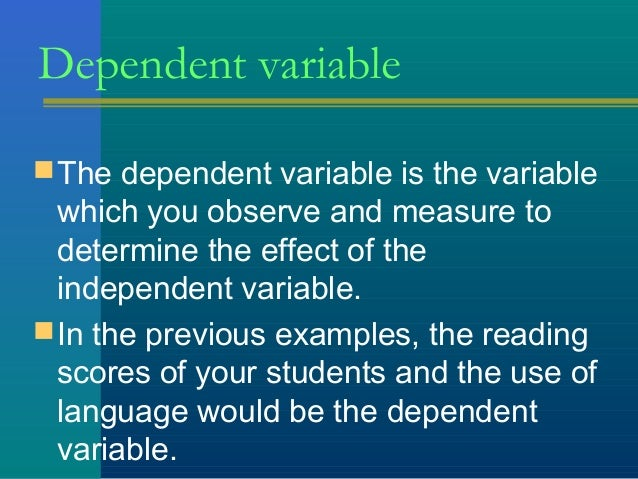 Thday 5 Variables And Measurement Scales