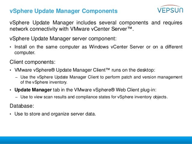 host cannot download files from vmware vsphere update manager patch store