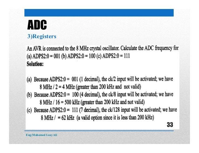 ADC 3)Registers Eng:Mohamed Loay Ali 33