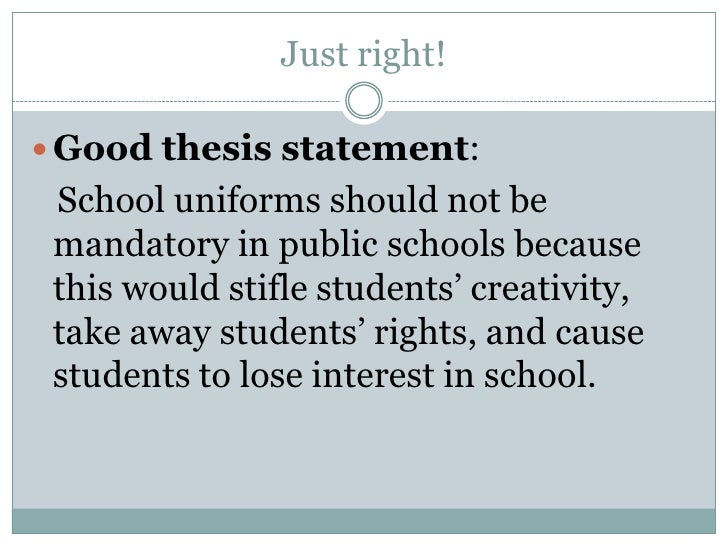 good thesis for school uniforms should students have to wear school uniforms persuasive essay uniforms school