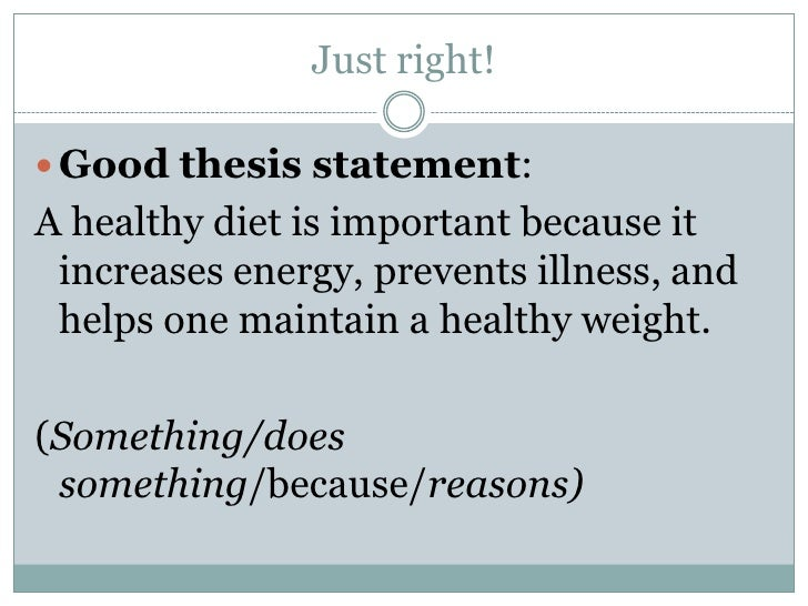 how to make a thesis statement healthy