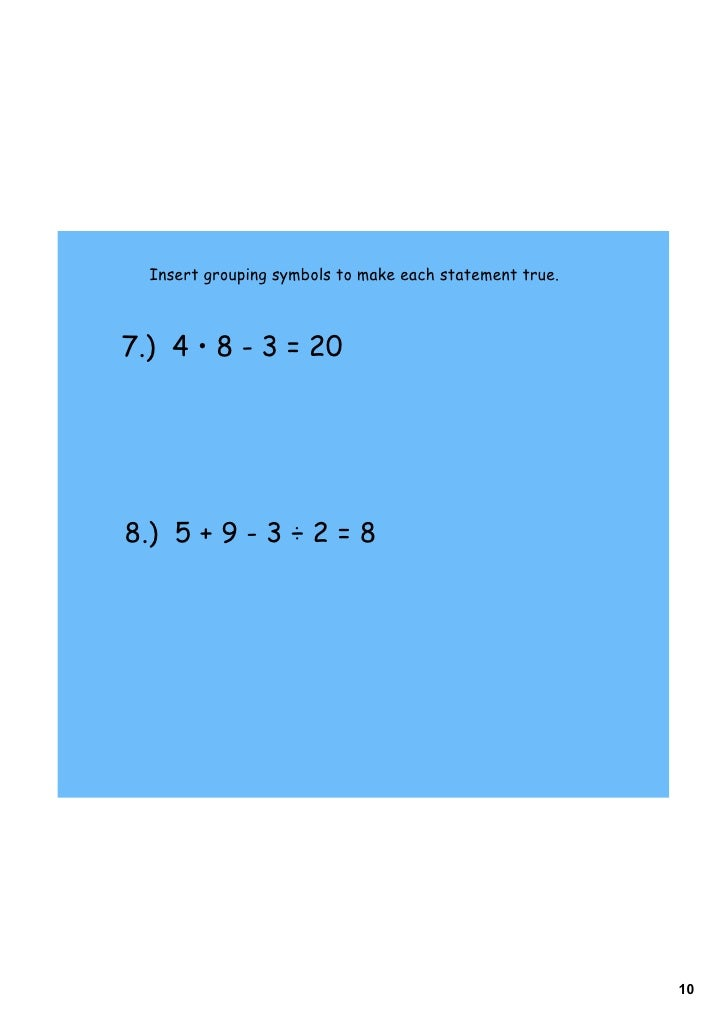 Day 6 Order Of Operations