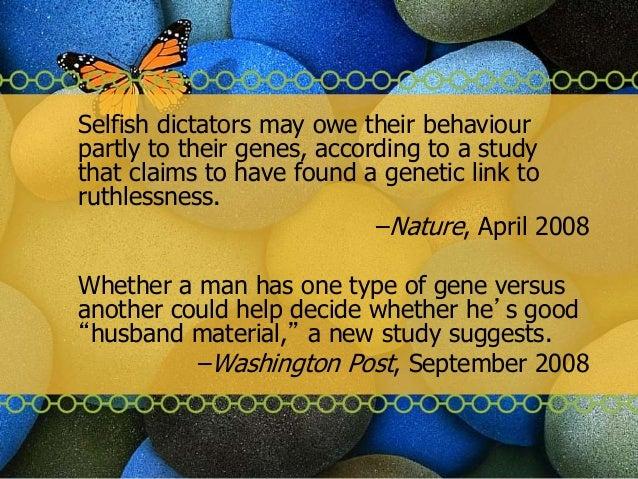 Perceptions of nature, nurture and behaviour