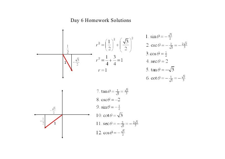 Day 6 Homework Solutions         1     1