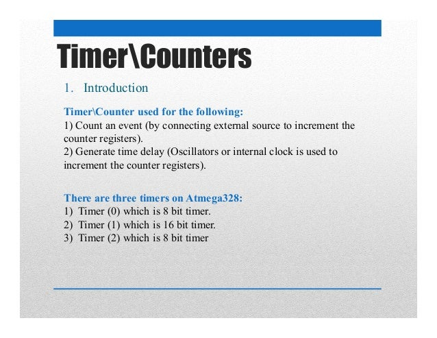 AVR_Course_Day7 timers counters and interrupt programming