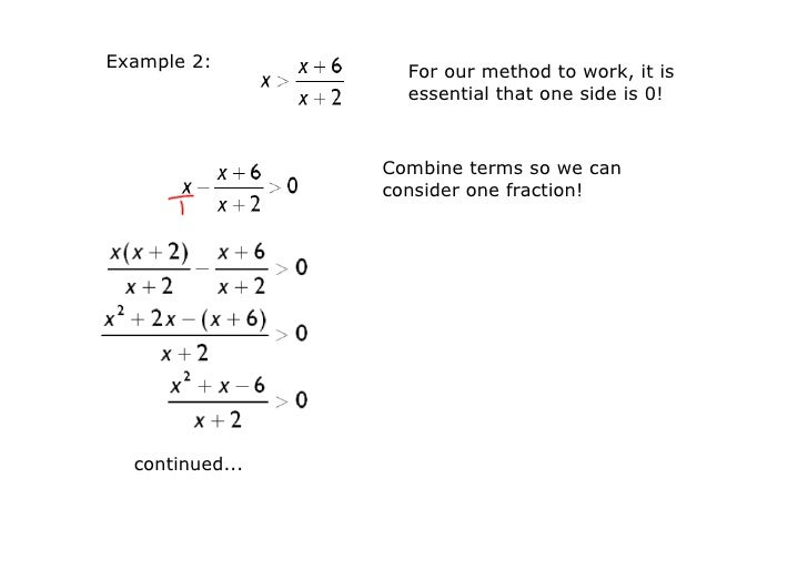 Day 8 Rational Inequalities