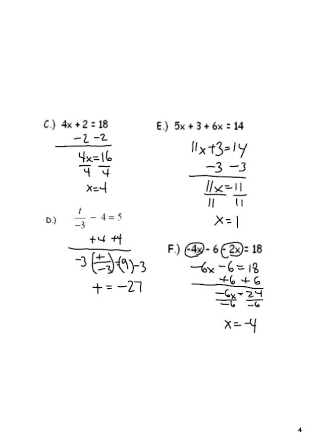 4-5 writing a function rule answers to impossible quiz
