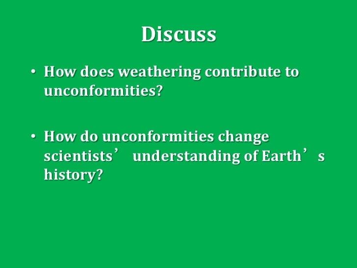 day 8 weathering unconformity