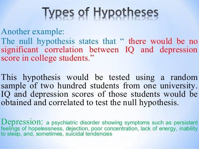 how to write a correlational hypothesis