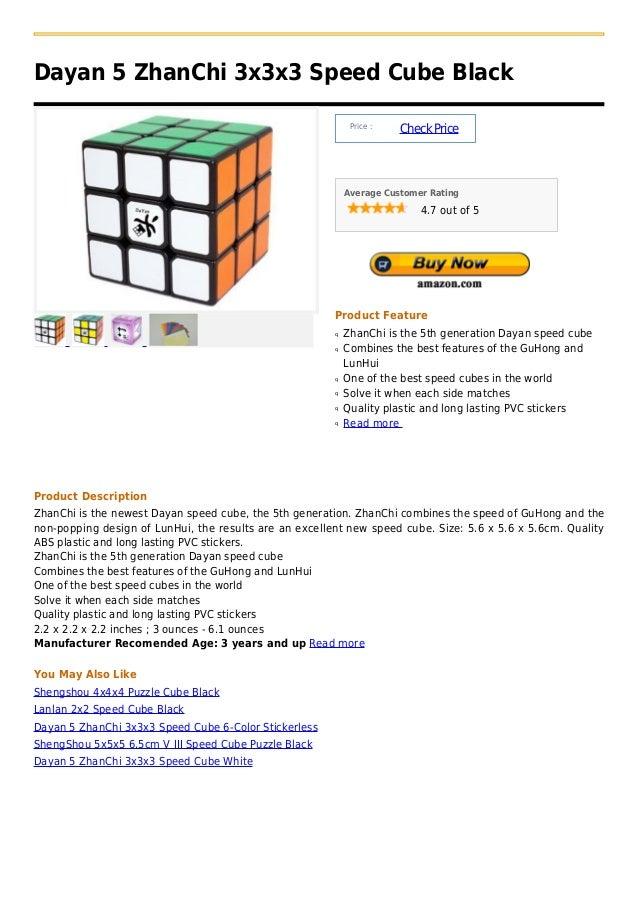 Dayan 5 ZhanChi 3x3x3 Speed Cube Black                                                             Price :                ...