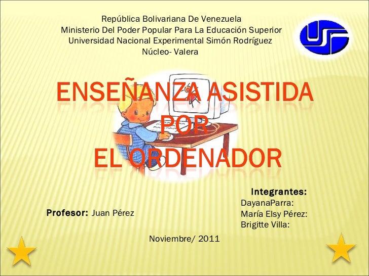 <ul>República Bolivariana De Venezuela Ministerio Del Poder Popular Para La Educación Superior Universidad Nacional Experi...