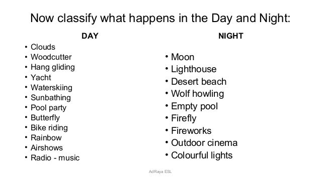 Day and Night Pixar Short Film Activity – Day and Night Worksheets