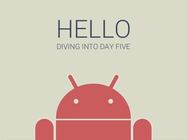 HELLO DIVING INTO DAY FIVE