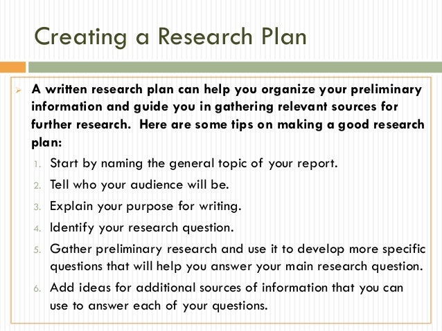 Research Papers - Research Plan & Plagiarism