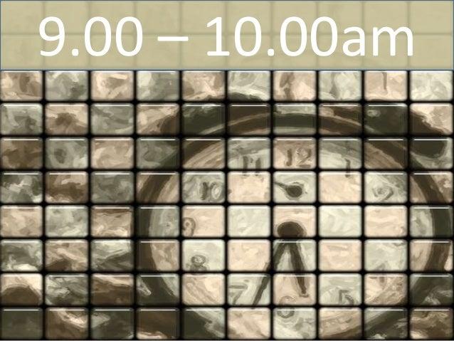 12.00 – 1.00pm