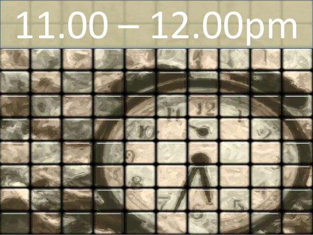 3.00 – 4.00pm