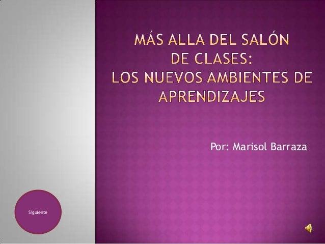 Por: Marisol Barraza Siguiente