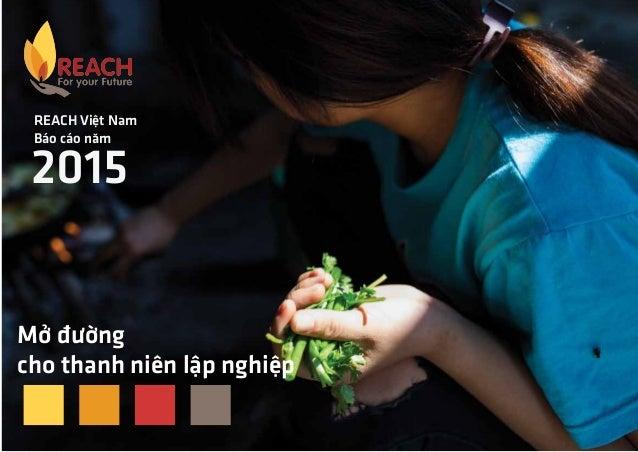 REACH Việt Nam Báo cáo năm 2015 Mở đường cho thanh niên lập nghiệp